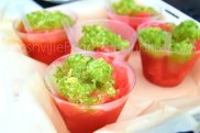 Smoke Et Al gave us this delicious Watermelon Strawberry granita that unanimously won 1st Place in Best Drink